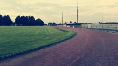 La piste côté champs