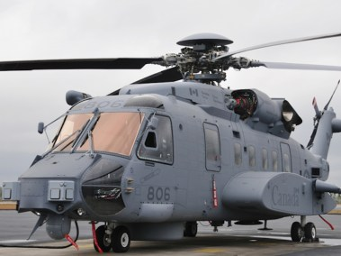 CH-148 Cyclone arriving at 12 Wing Shearwater (Photo Credit: Sikorsky)