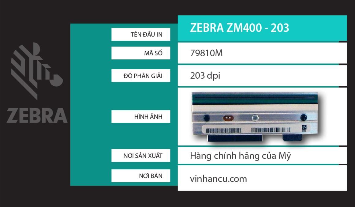 bán đầu nhiệt Zebra ZM400 203 DPI giá rẻ