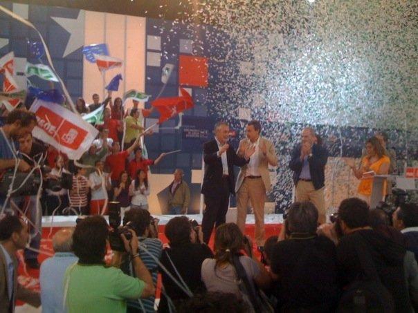 Zapatero, Griñán y Chaves, en Dos Hermanas