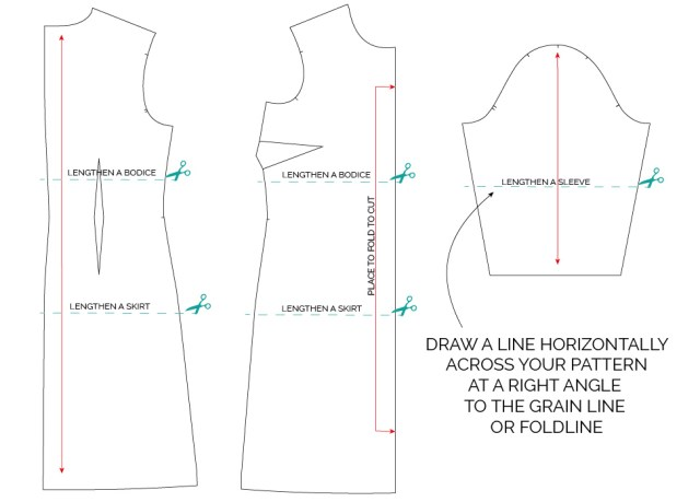 HOW TO LENGTHEN OR SHORTEN A SEWING PATTERN TUTORIAL_MAVEN PATTERNS-01