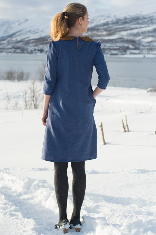 Sew Mariefleur Kitty Dress peter pan collar