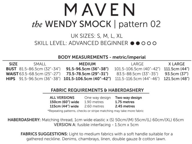 THE WENDY SMOCK_MAVEN PATTERNS