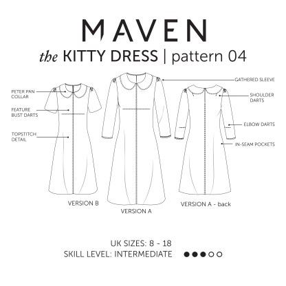 THE KITTY DRESS_MAVEN PATTERNS