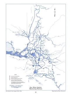 Key Water Quality Monitoring Stations, from the Delta Atlas 1995