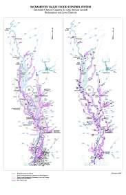 Sacramento Valley Flood Control System Estimated Channel Capacity November 2003