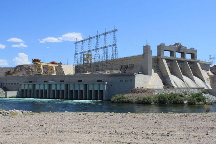 Davis Dam, on the Colorado River