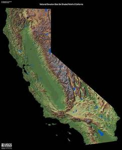 CA Landsat shaded relief