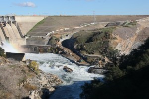 With heavy storms in the forecast, water is released from Folsom Dam as a precautionary measure in December of 2010.