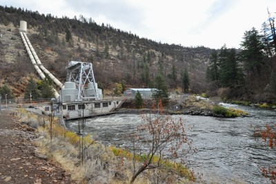 JC Boyle Dam and Powerplant, one of the four Klamath dams to be removed