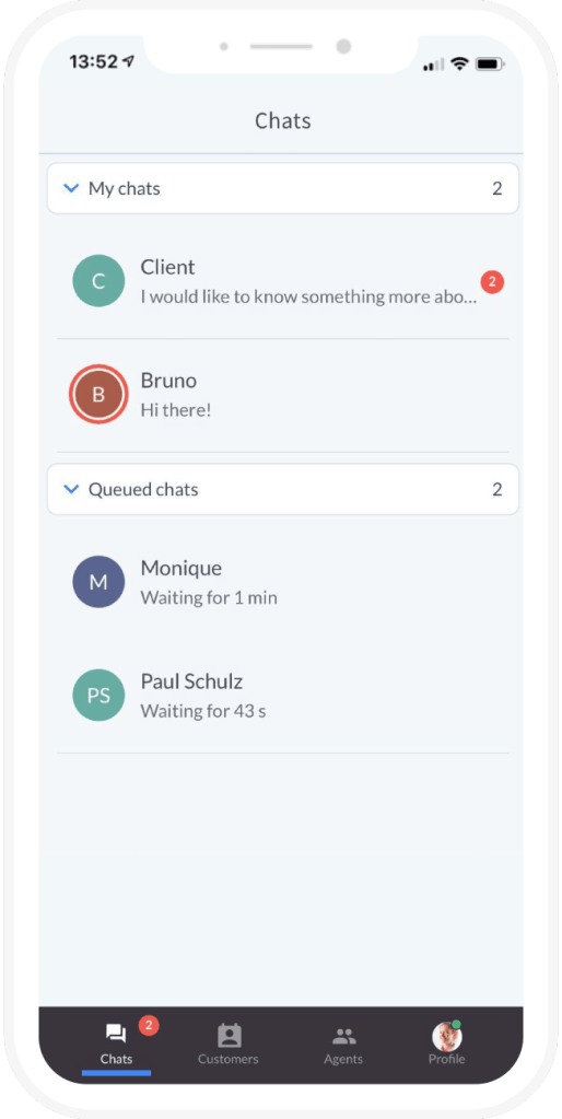 LiveChat Mobileview Screenshot