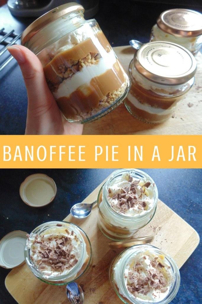 banoffee pie in a jar