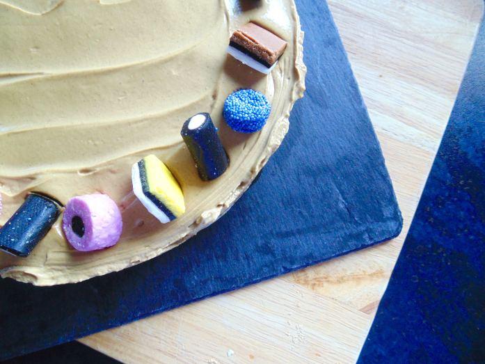 Liquorice cheesecake