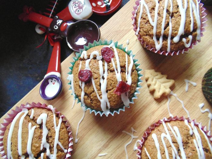 sticky orange gingerbread muffins