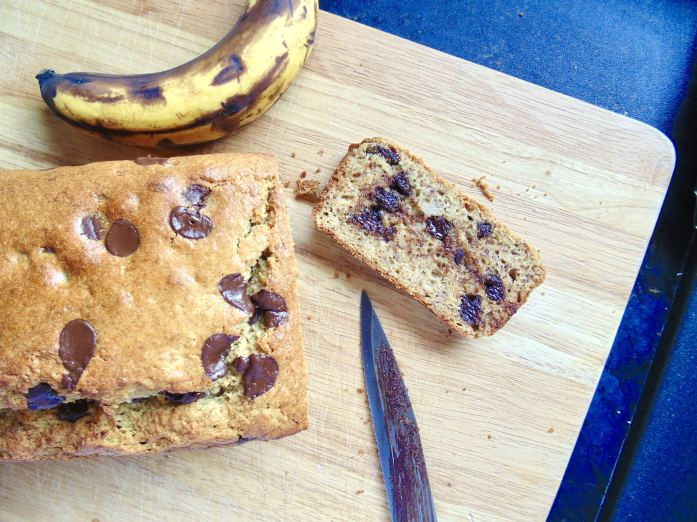 Healthy Chocolate Chip Banana Bread (with video!)