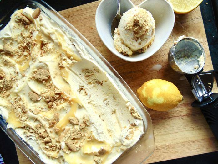 Easy Lemon Cheesecake Ice Cream