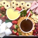 Valentine S Day Chocolate Fondue Dessert Platter Maverick Baking