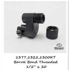 Crosman 1377, 1322 barrel band, threaded, no sight blade