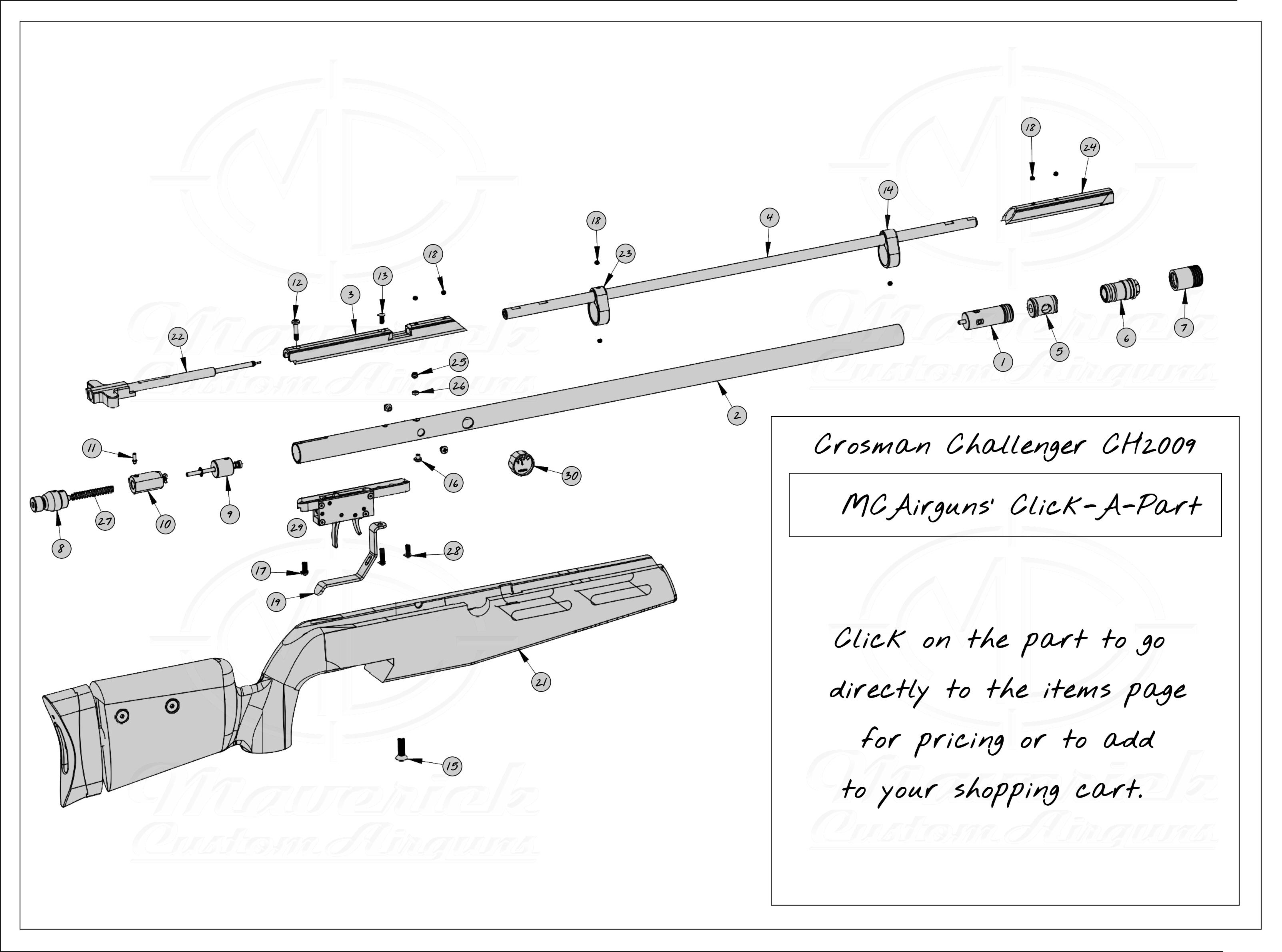 Crosman Challenger CH2009 Click A Part