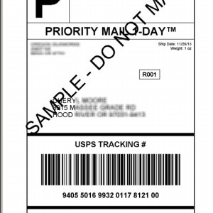 Prepaid Return Shipping Label (Repairs ONLY)