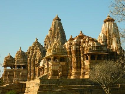 Foreground: Devi Jagdamba Temple, Background: Kandariya Mahadev Temple