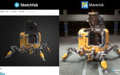 New importer for Sketchfab models