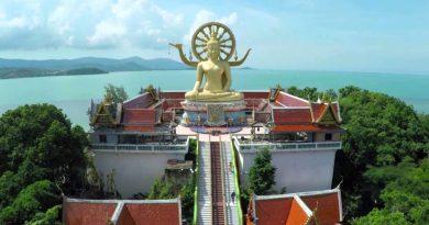 Big Buddha a Koh Samui vue aérienne