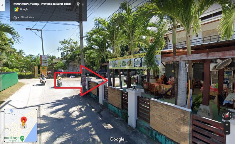 Photo et plan du restaurant sur Google Maps a Lamai