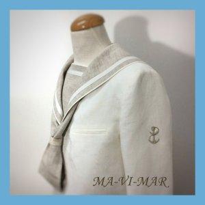 Outlet traje comunión marinero lino