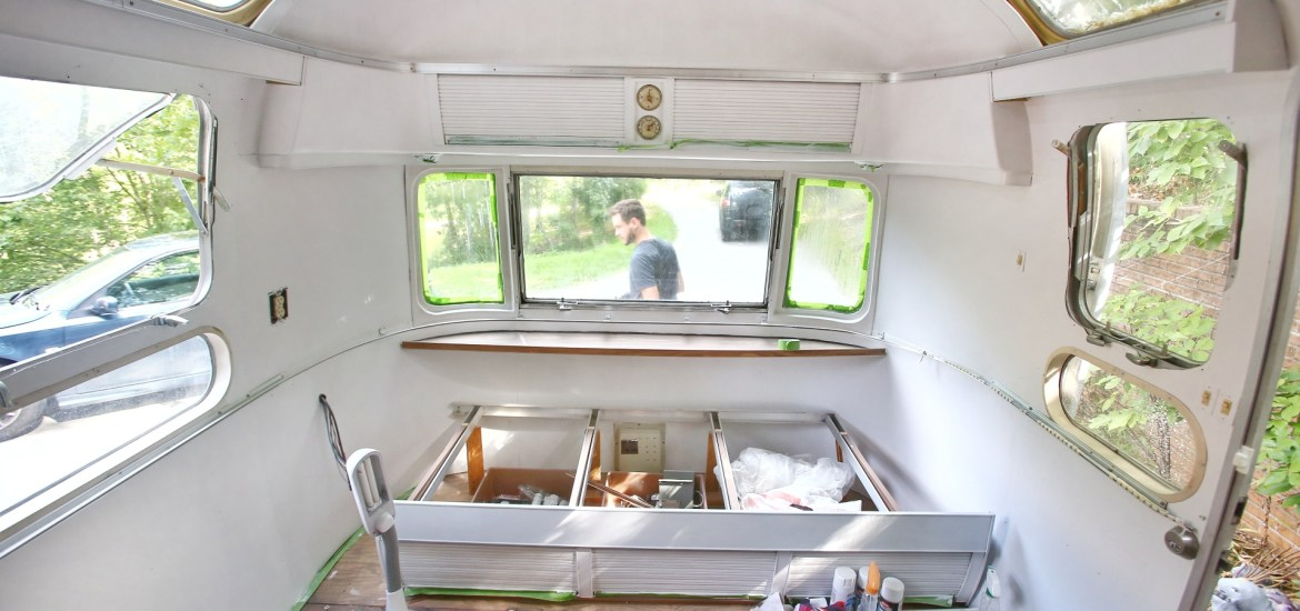 Painting The Interior Of A Vintage Airstream Mavis The Airstream