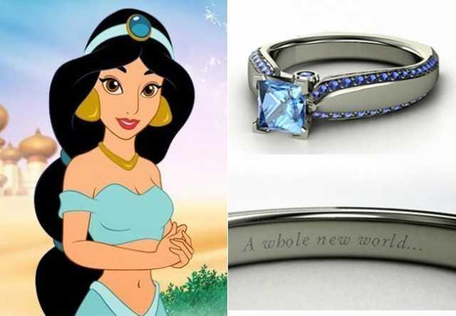 anillos de compromiso princesas disney