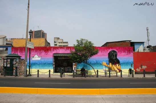 Muro de Lili Cuca (Colombia) en Jr. Lampa, Lima.