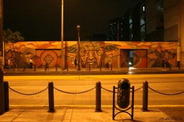 Muro de Guache en Jr. Lampa, Lima.