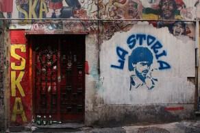 Casa okupa. Vico Monteleone, Napoli, Italia.