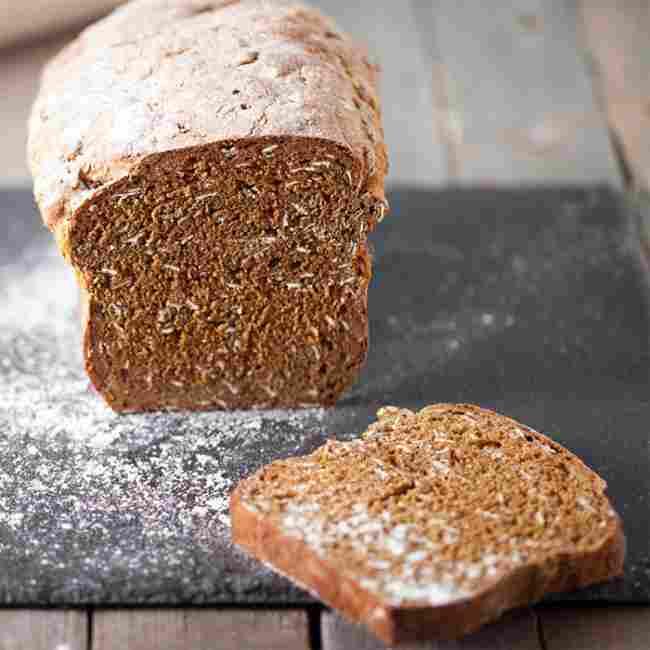 Malted wheat flake bread