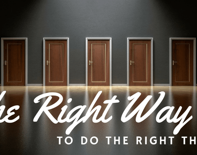 Is there a Wrong Way to do The Right Thing? Attitude Makes All The Difference