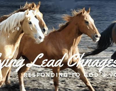 Flying Lead Change! Following God's Lead!