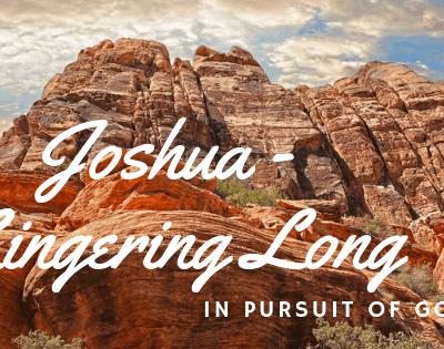 Lingering Long – Joshua, The Making of a True Lingerer