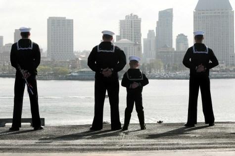 Sailors - a son imitating a father
