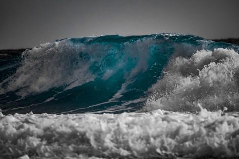 Towering waves