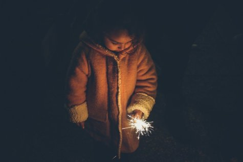 Child with light