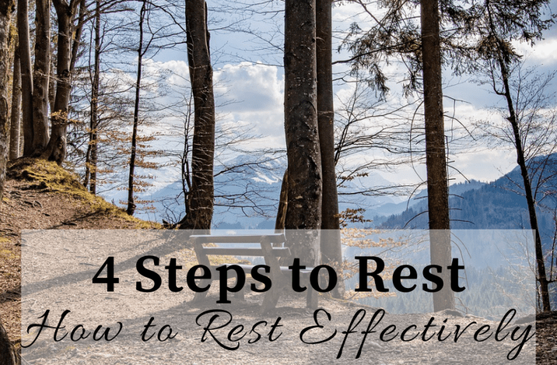 Rest Effectively