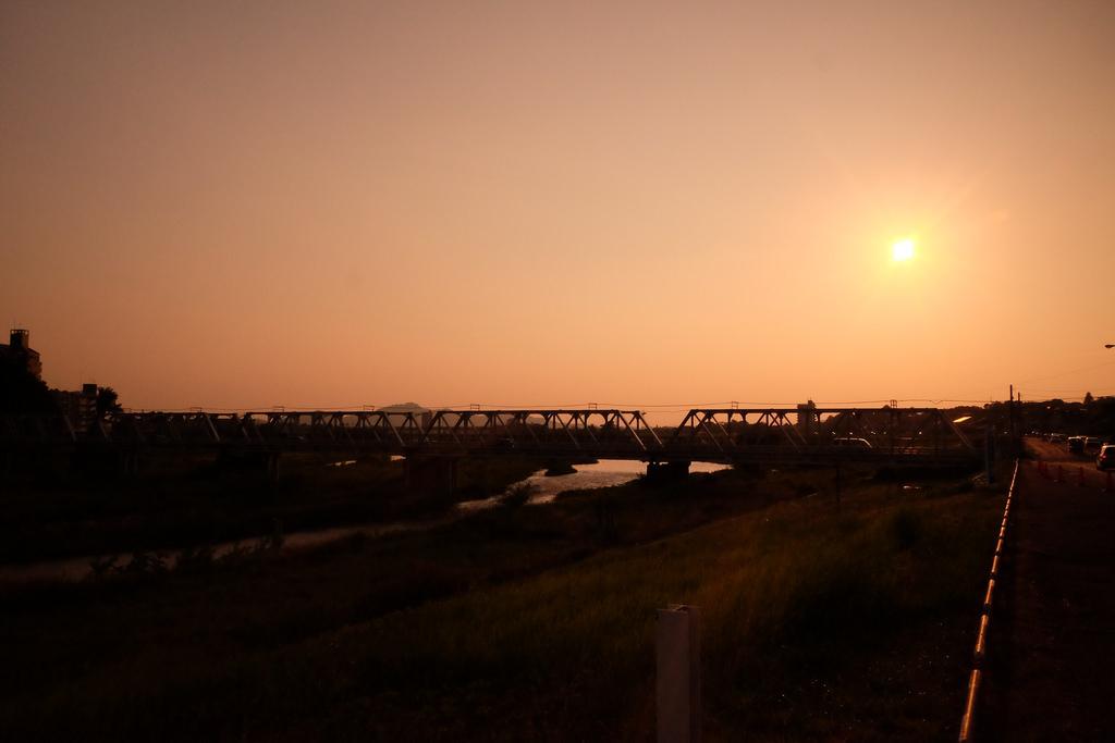 渡良瀬橋の綺麗な夕日を見てきた