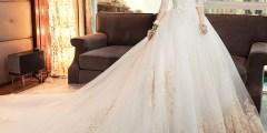 فساتين زفاف طويلة 2021