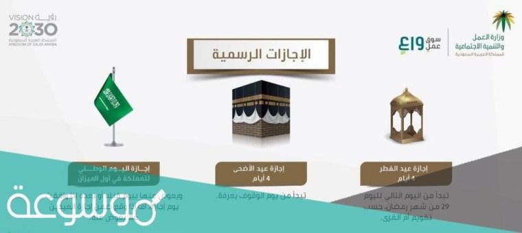 عيد الفطر للقطاع الخاص في السعودية