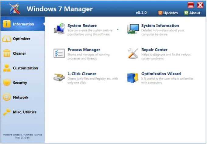 Yamicsoft Windows 7 Manager 5.1.0