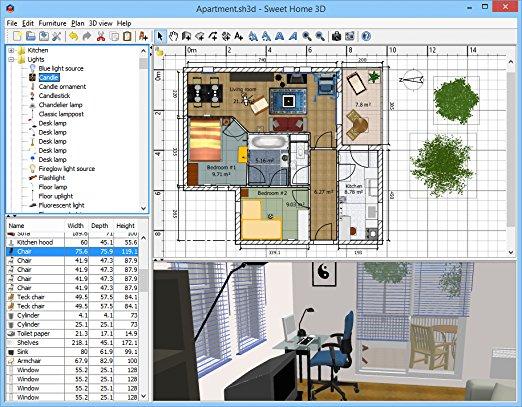 Sweet Home 3D 6.4.2 [Full] ตัวเต็ม โปรแกรมออกแบบบ้านฟรี
