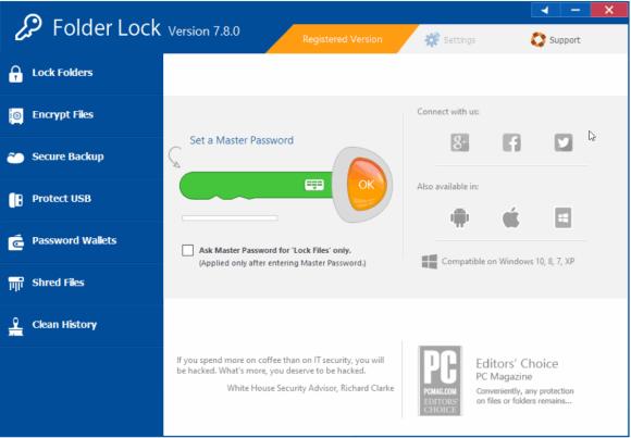 Folder Lock 7.8.4 [Full] ถาวร + คีย์ โปรแกรมซ่อนไฟล์ ล็อคโฟลเดอร์