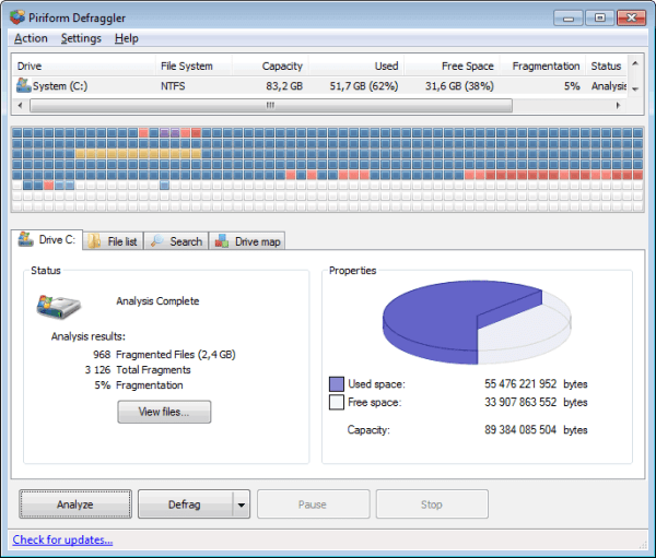 โหลด Defraggler Pro 2.22.995 [Full] โปรแกรมจัดเรียงข้อมูล ให้เครื่องเร็ว