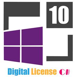 W10 Digital License C# Icon